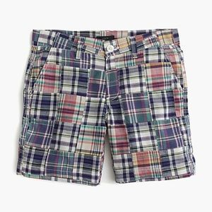 J.Crew Slim Shorts Madras Plaid Patchwork